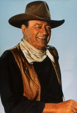 the portrayal of john wayne as strong and courageous throughout his career Once again his name was changed, to john wayne movie stunts he performed throughout his career it was ironic that he would become known for his portrayal of.